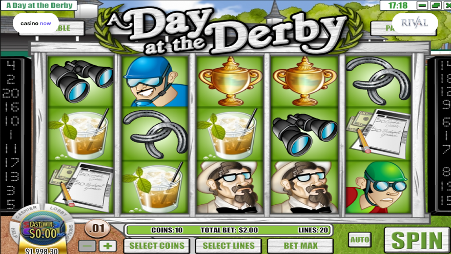 Online slot A Day at the Derby Rival screenshot