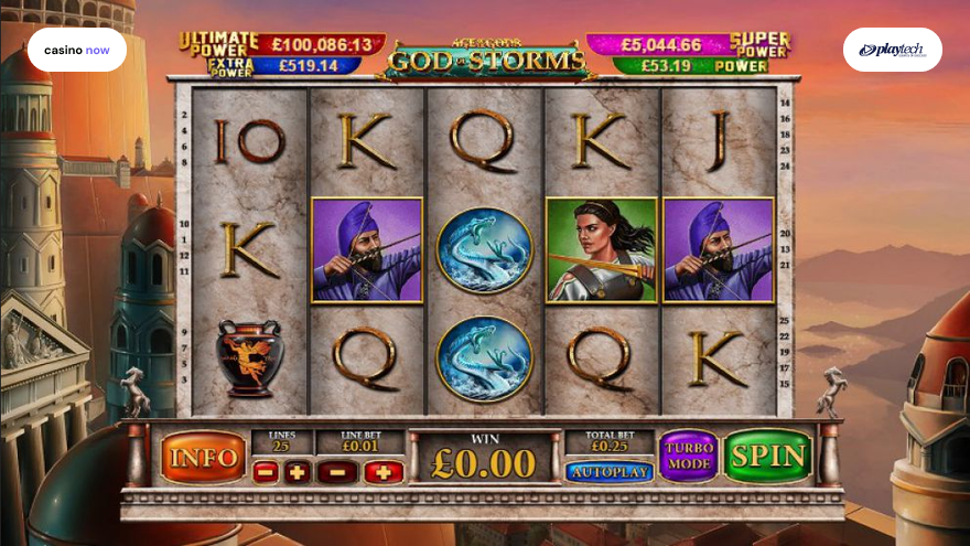 Online slot Age of the Gods: God of Storms Playtech screenshot