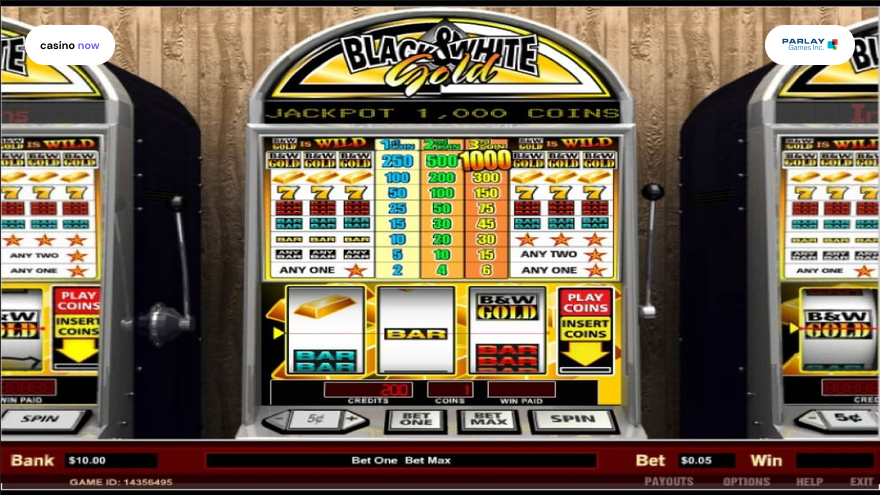 Online slot Black and White Gold Parlay screenshot