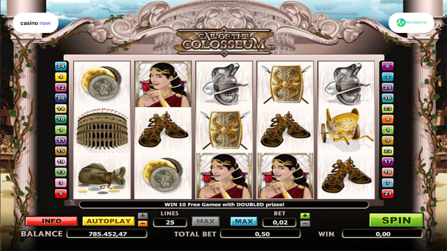 Online slot Call Of The Colosseum Microgaming screenshot
