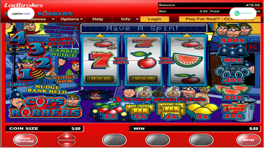 Online slot Cops And Robbers Microgaming screenshot