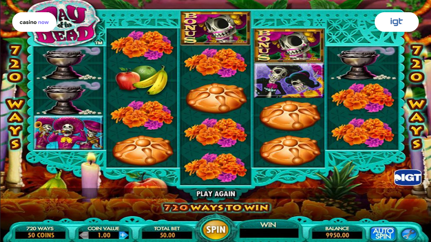 Online slot Day of the Dead IGT (WagerWorks) screenshot