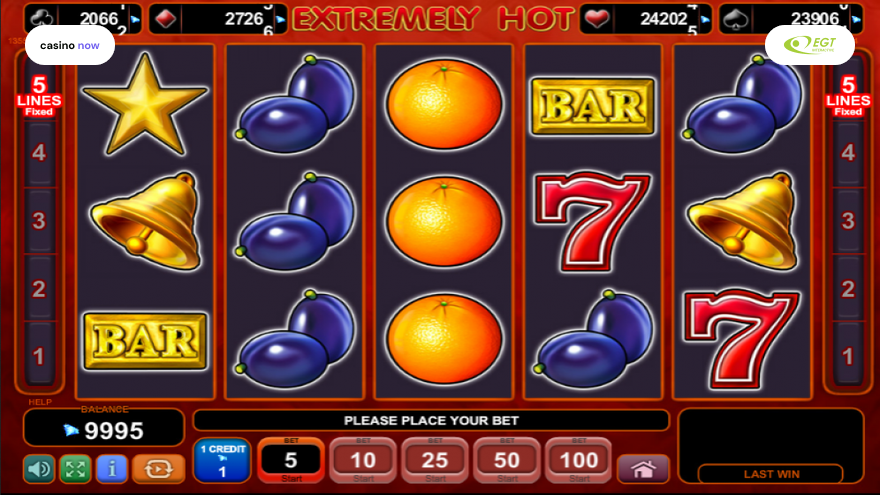 Online slot Extremely Hot EGT Interactive screenshot
