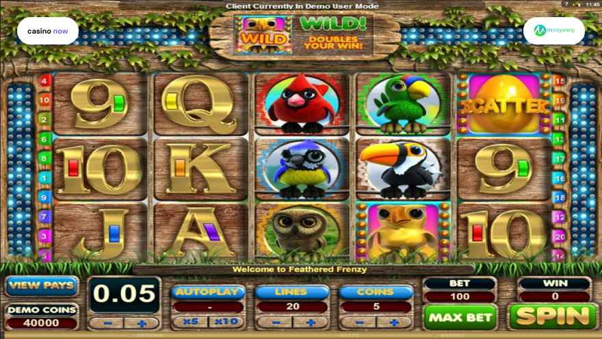 Online slot Feathered Frenzy Microgaming screenshot