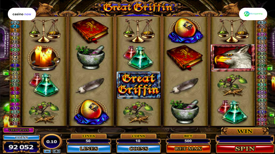 Online slot Great Griffin Microgaming screenshot