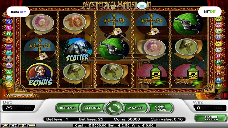 Online slot Mystery at the Mansion NetEnt screenshot