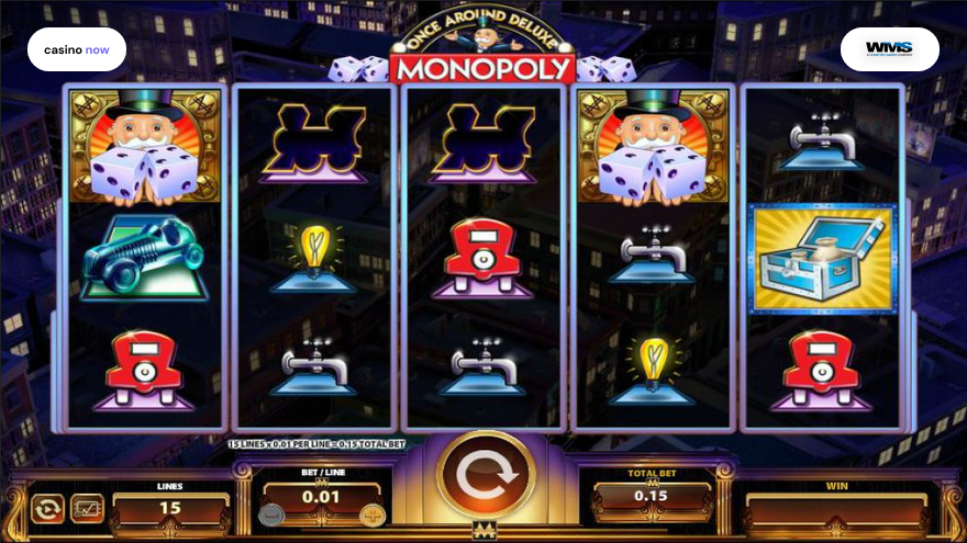 Online slot Once Around Deluxe Monopoly WMS screenshot