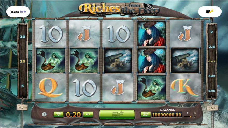 Online slot Riches from the Deep BF Games screenshot