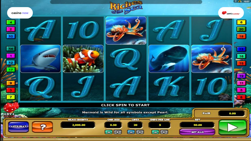 Online slot Riches of the Sea 2 By 2 Gaming screenshot