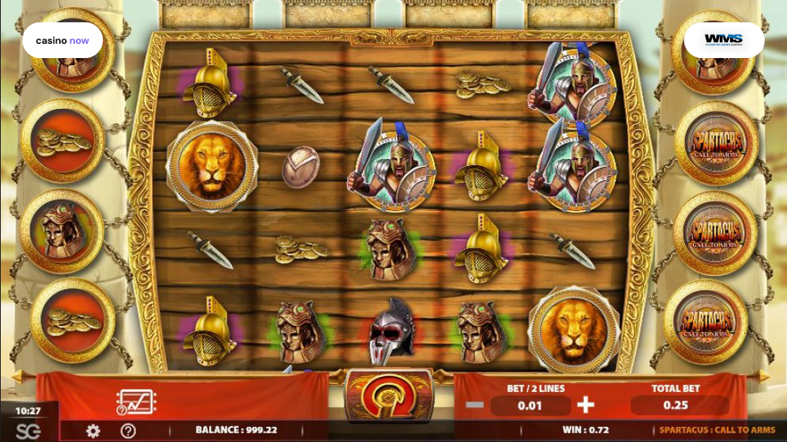 Online slot Spartacus Call to Arms WMS screenshot