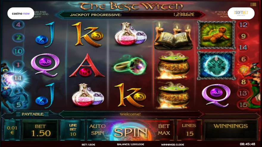 Online slot The Best Witch iSoftBet screenshot