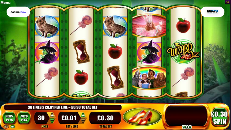 Online slot The Wizard of Oz Ruby Slippers WMS screenshot