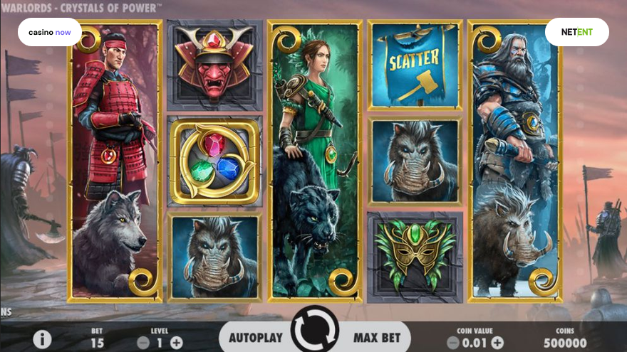 Online slot Warlords: Crystals of Power NetEnt screenshot